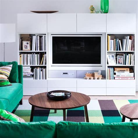 ikea scaffali besta decoraci 243 n 15 composiciones de muebles tv con la serie