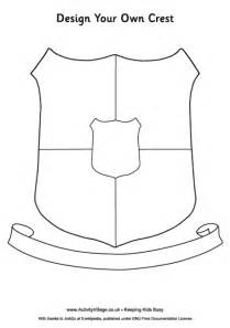 school shield template design your own crest