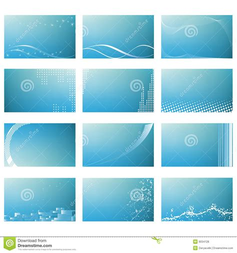 Royalty Free Business Card Templates by Abstract Business Card Templates Royalty Free Stock Photos
