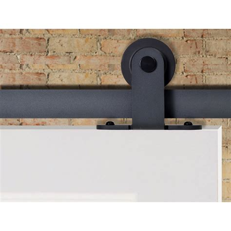 Calhome Top Mount Sliding Track Hardware Mdf 2 Panel Top Mount Sliding Barn Door Hardware