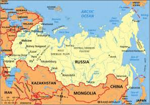 map of russia russia capital map