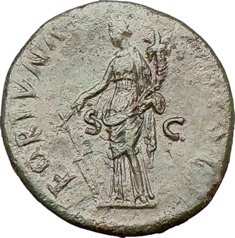 Fortuner Ad 1501 M Green nerva 97ad rome quality authentic ancient coin