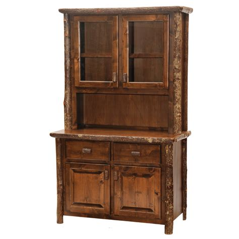 Hickory Hutch cottage hickory hutch rustic furniture mall by timber creek