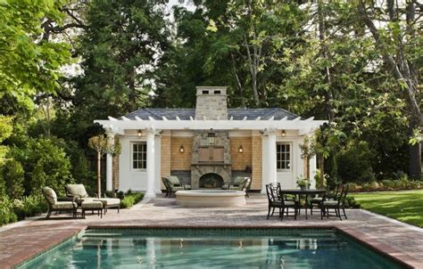 pool houses spanish colonial homes central courtyard pool pool houses john malick associates houses