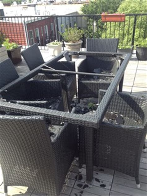 patio table shattered