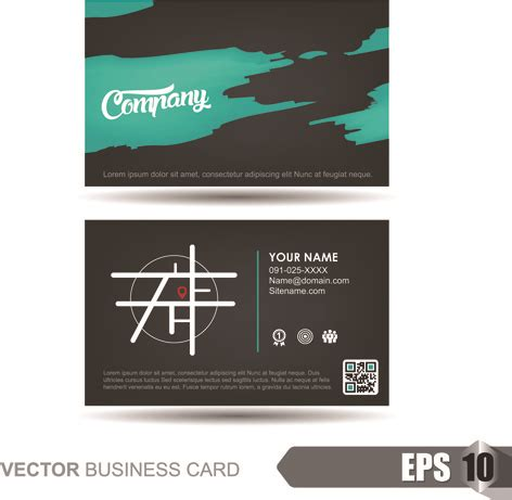 large business card template company letterhead template free vector 13 492