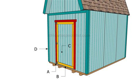 Building A Shed Door by How To Make A Shed Door Howtospecialist How To Build