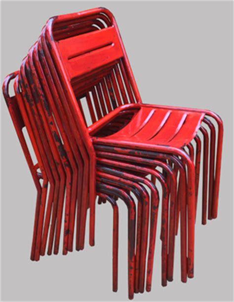 dix chaises de jardin m 233 talliques peintes en tolix