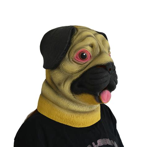 pug mask animal pug mask for pgm h150010 partygears