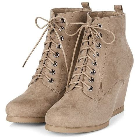 light brown ankle boots light brown lace up wedge boots 38 liked on polyvore