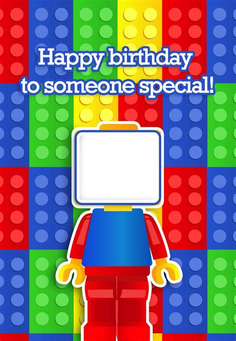 lego birthday card template free printable quot to someone special quot birthday greeting card