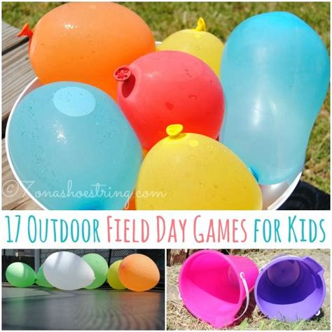 outdoor field day games  kids water balloons