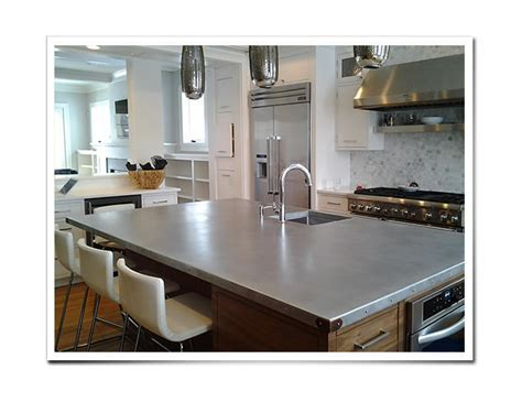 Custom Metal Countertops   Zinc Countertops   Copper