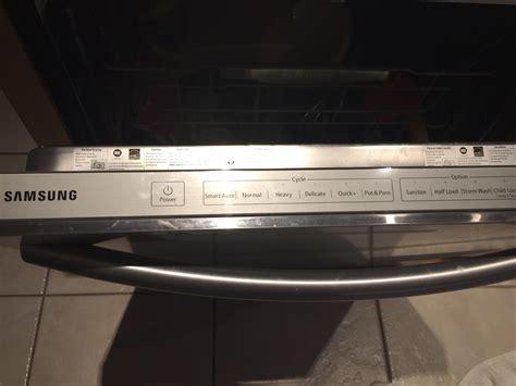 samsung dishwasher lights samsung dishwasher dw80f600 heavy light blinking