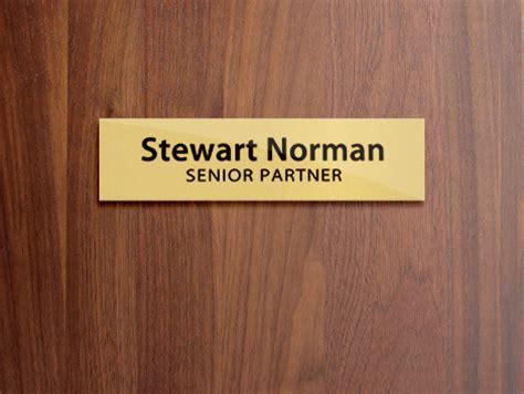 door label template metal door name plates
