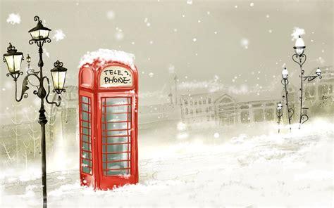 wallpaper london cartoon telephone wallpaper