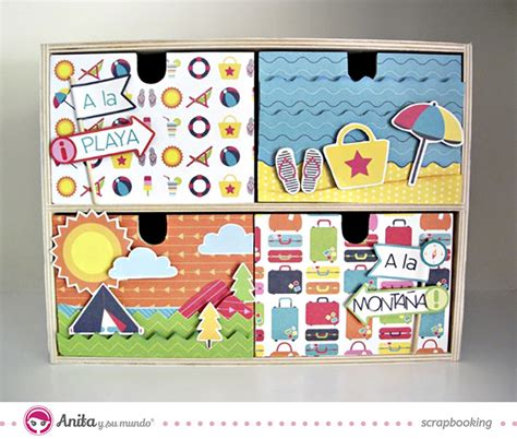 decorar fotos con scrapbook ideas scrap decora 1 cajonera con papel scrapbook