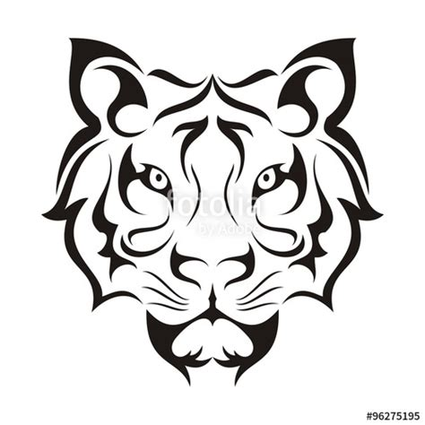 quot tiger face tribal template quot stock image and royalty free
