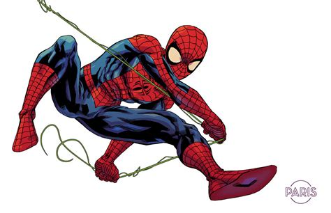 spider man swinging spider man by parisalleyne on deviantart