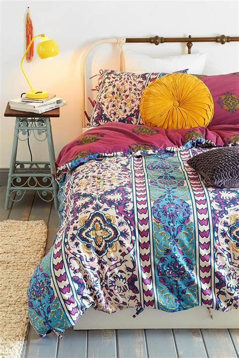 boho bed comforters magical thinking boho stripe duvet cover urban