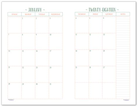 page month dated calendars ready