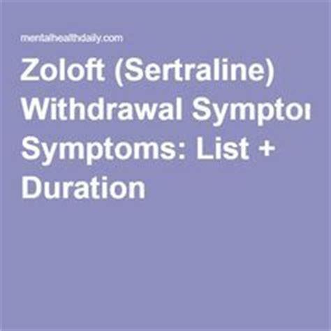 Detox Symptoms Duration by Best 25 Zoloft Ideas On Plus Size