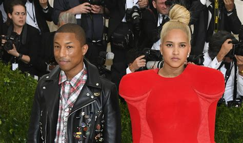 pharrell williams wife meet helen lasichanh the model pharrell williams wears ripped jeans to met gala 2017