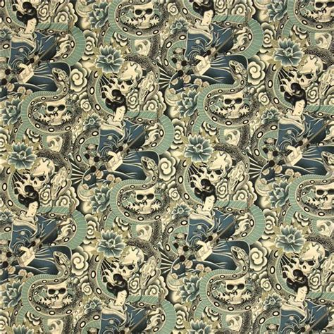 alexander henry upholstery fabric grey alexander henry fabric japanese woman and skulls