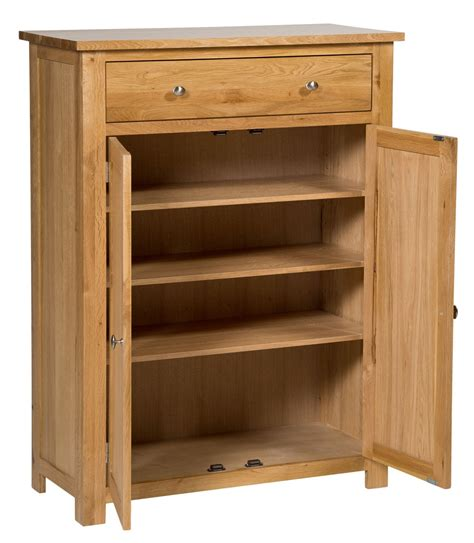 cabinet with shelf waverly oak storage cupboard shoe cabinet hallowood