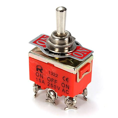 Best Quality Toggle Switch 3 Kaki 15a On On 250vac car toggle dpdt on switch auto parts 6 pin 15a 250v