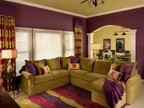 Livingroom Color Schemes by Indoor Wall Living Room Paint Eggplant Color Scheme