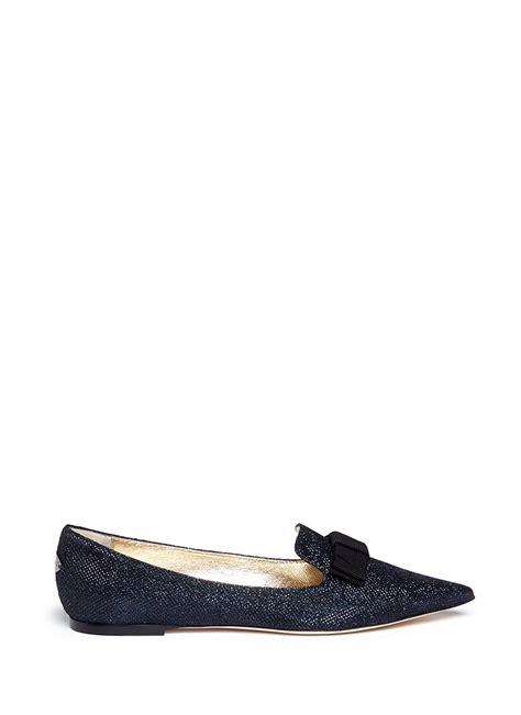 Flat Shoes Gliter Rf01 1 lyst jimmy choo gala lam 233 glitter flats in blue