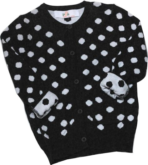Cardi Dot And Black white sweater with black polka dots sweater patterns