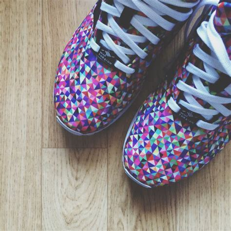 zx flux prism pattern adidas zx flux prism sneakers1 pinterest zx flux