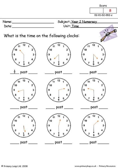 clock worksheets year 2 time 2 primaryleap co uk