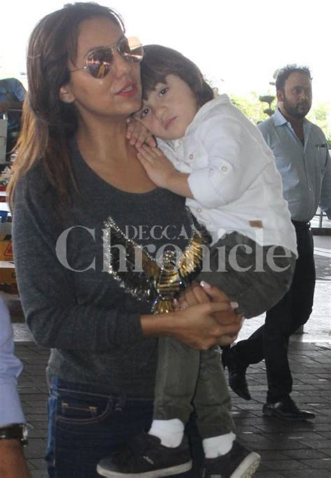 Sleepy AbRam in no mood for photos as he arrives at the ...