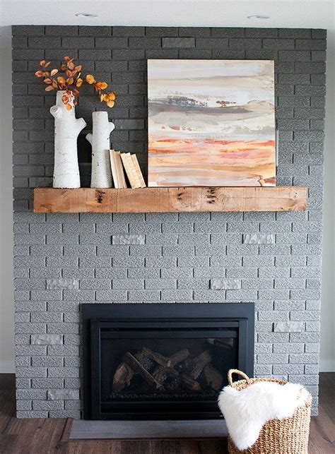 fireplace colors 70s fixer brick fireplace makeover before and