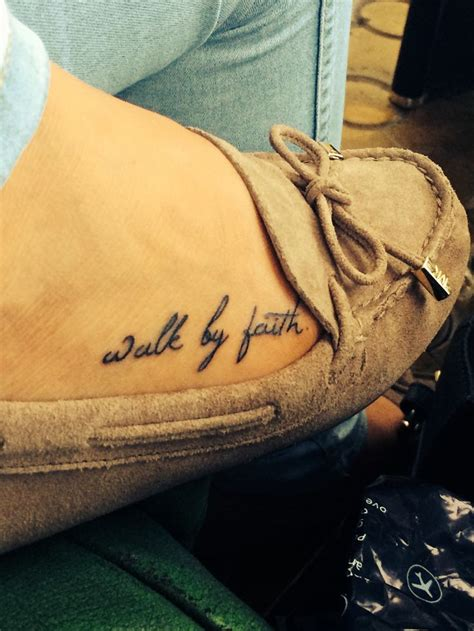 walk by faith tattoo design best 25 small foot tattoos ideas on tattoos