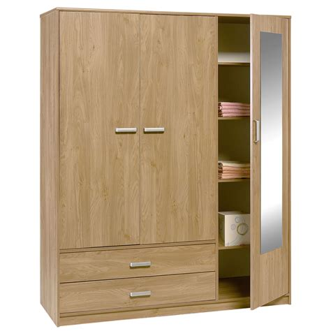 Of Wardrobe felix 3 door 2 drawer wardrobe brighton oak