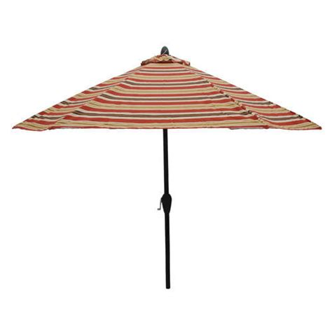 Menards Patio Umbrellas by Backyard Creations 9 Sorrento Stripe Umbrella At Menards 174