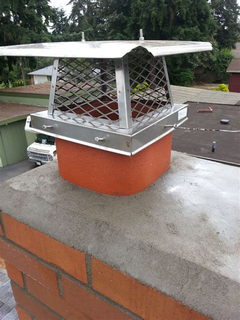 Chimney Masonry Repair Seattle - finished chimney cap seattle chimney and fireplace repair