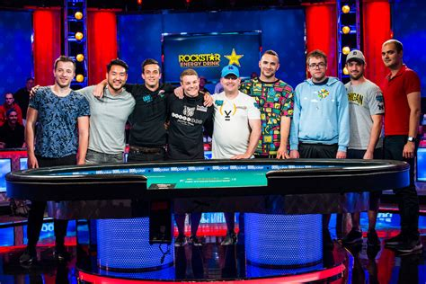 wsop table the nine wsop 2018 event 65 10k event table