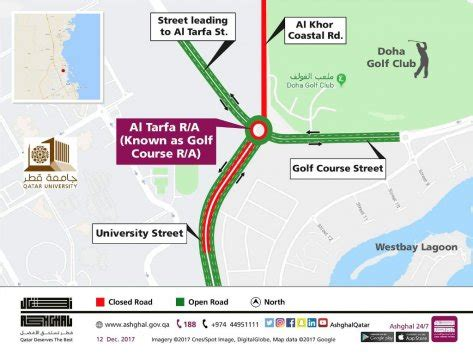 university street and golf course roundabout to be closed