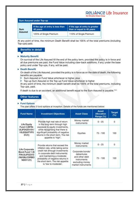 Mba Project Reliance Insurance by Reliance Insurance Project