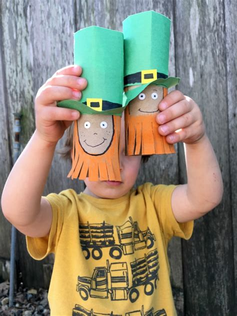 Leprechaun Toilet Paper Roll Craft - leprechaun craft for c r a f t