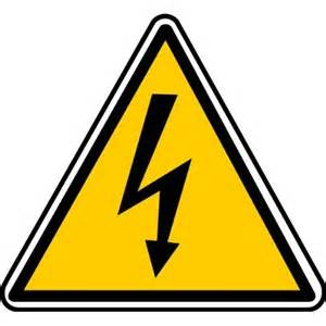 Lightning Bolt Car Warning Light High Voltage Lightning Bolt Sign Business