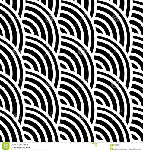 curved line pattern black and white curved lines in a seamless pattern stock