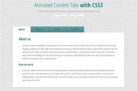 css tutorial tabs 10 fresh and useful pure css3 tutorials no javascript