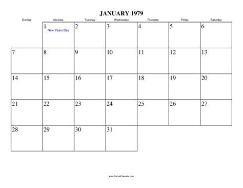 new year january 1979 january 1979 calendar