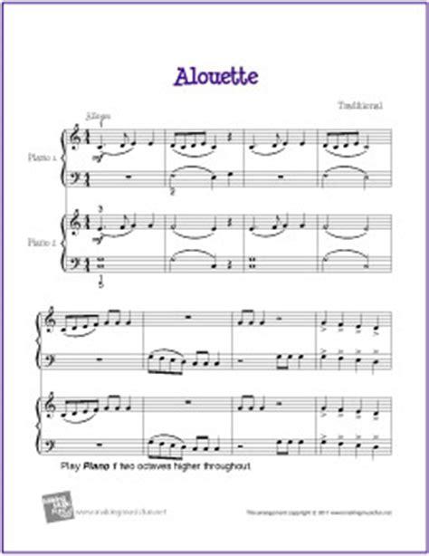 tutorial piano duet alouette duet